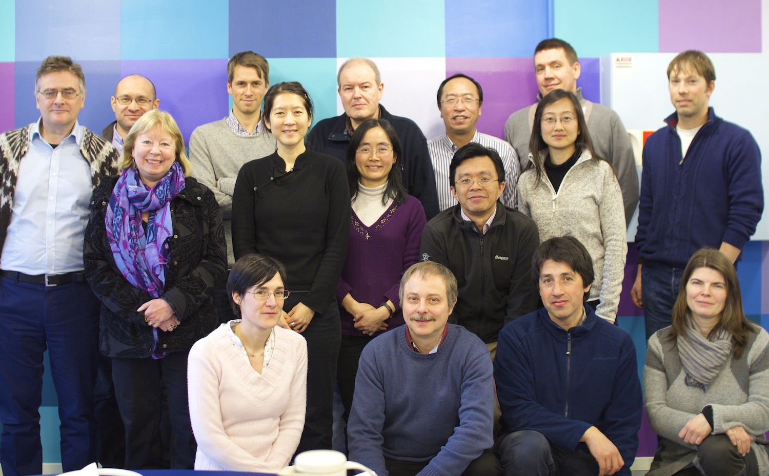 From left to right, top to bottom row:  Níels Einarsson, Vladimir Semenov, Tarjei Breiteig, Sergey Gulev, Yongqi Gao, Bernt Viggo Matheussen, Torben Königk, Astrid Ogilvie, Camille Li, Shuting Yang, Martin King, Linglin Chen, Mahaut de Vareilles, Markus Meier, Noel Keenlyside, Ina Kindem. Photo: Gudrun Sylte, Bjerknes Center for Climate Research (BCCR)